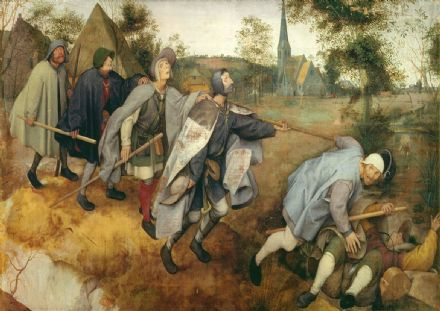 Bruegel the Elder, Pieter: Parable of the Blind. Fine Art Print/Poster. Sizes: A4/A3/A2/A1 (003599)